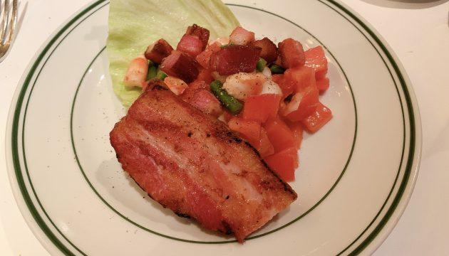 ウルフギャングステーキのサラダが最高でした!